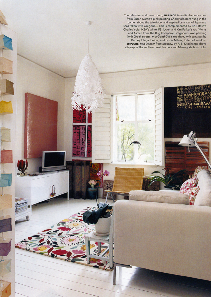 "Vogue Living Australia features Kim Parker's iconic and bestselling ""Mums and Asters"" plush designer rug. Available exclusively at www.kimparker.tv"