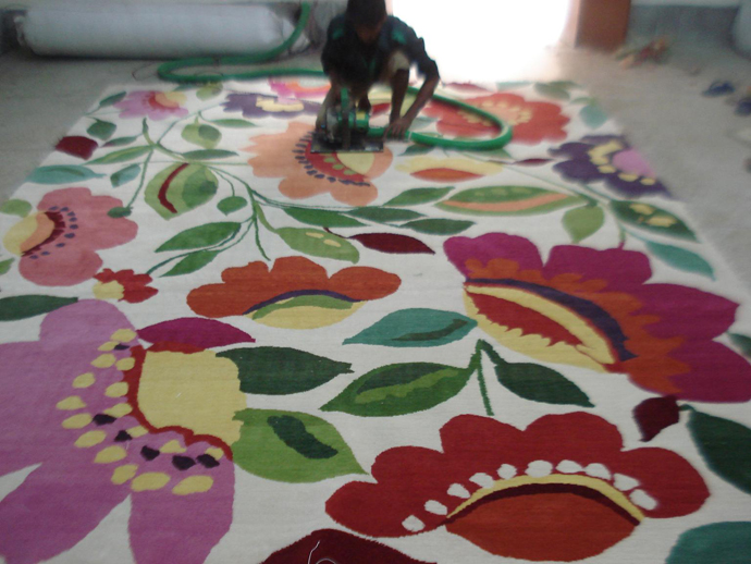 """Dickon's Garden"" plush designer rug from the Kim Parker Home collection"