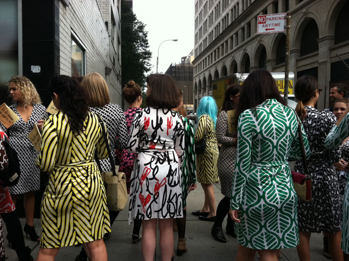 """DVF Wrappers"" photo by Kim Parker 2011"
