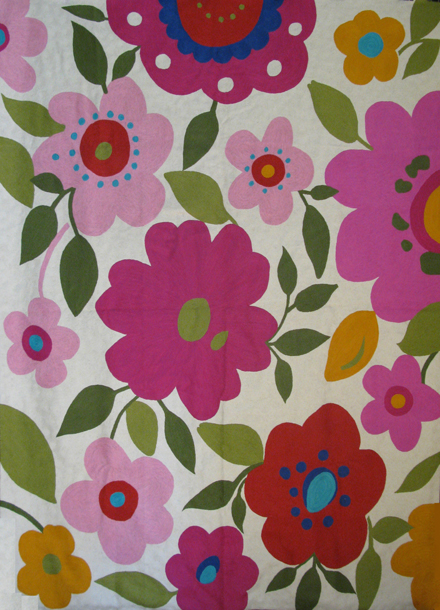 """Hot Pink Garden"" designer rug from the Kim Parker Home collection"