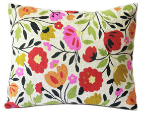 India Garden designer pillow from the Kim Parker Home collection