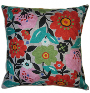 Frida's Garden designer pillow from the Kim Parker Home collection