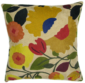 Tuscan Garden designer pillow from the Kim Parker Home collection