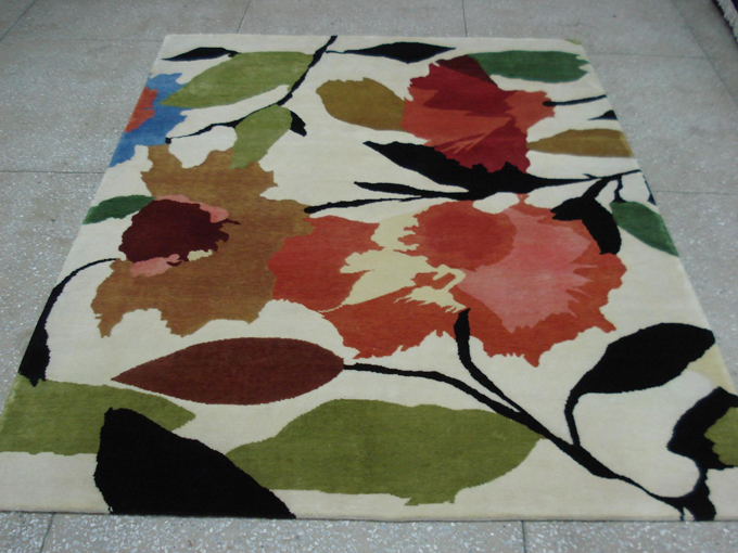 "The new ""Begonias"" designer rug from the Kim Parker Home collection"
