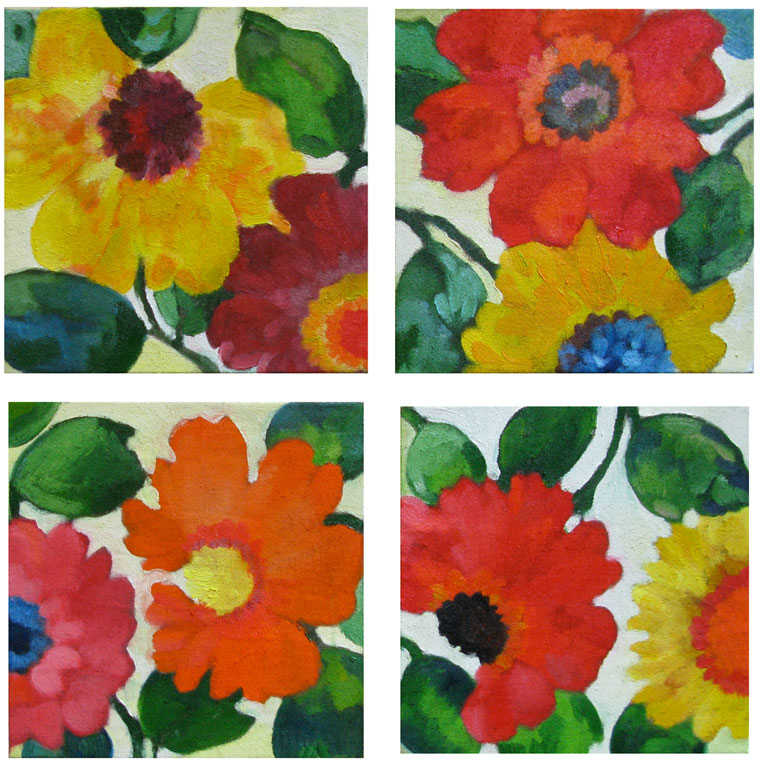 """Anemones 1-4"" by Kim Parker 2011"
