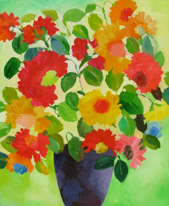 """Lou's Bouquet"" painting by Kim Parker"
