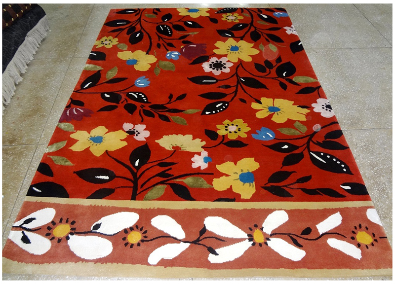 """Petrushka"" designer rug by Kim Parker Copyright 2014. All rights reserved."
