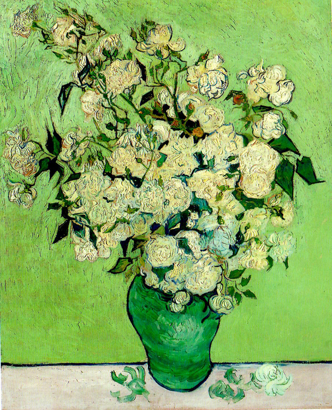 """Vase of Roses"" painting by Vincent van Gogh"